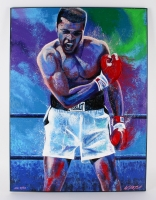 """Bill Lopa """"Muhammad Ali"""" Signed Limited Edition Hand-Embellished 30x40 AROC Giclee on Canvas #34/56"""