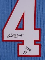 "Earl Campbell Signed Oilers 35x43 Custom Framed Jersey Inscribed ""HOF 91"" (JSA COA) at PristineAuction.com"