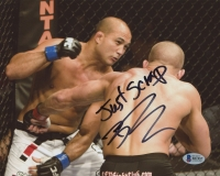 "B.J. Penn Signed UFC 8x10 Photo Inscribed ""Just Scrap"" (Beckett COA)"