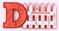 "Broncos ""D-Fence"" Foam Hand Sign 8.5"" x 17.5"" Team Signed by (16) with Phil Taylor, Von Miller, Aquib Talib, Brandon Marshall, T.J. Ward, Chris Harris Jr. (JSA ALOA)"