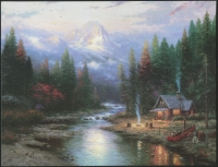 "Thomas Kinkade ""The End Of A Perfect Day II"" 8x10 Lithograph"