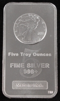 5 oz Walking Liberty Design .999 Troy Silver Bar by Highland Mint