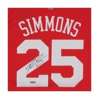 Ben Simmons Signed Philadelphia 76ers Jersey (UDA COA) at PristineAuction.com