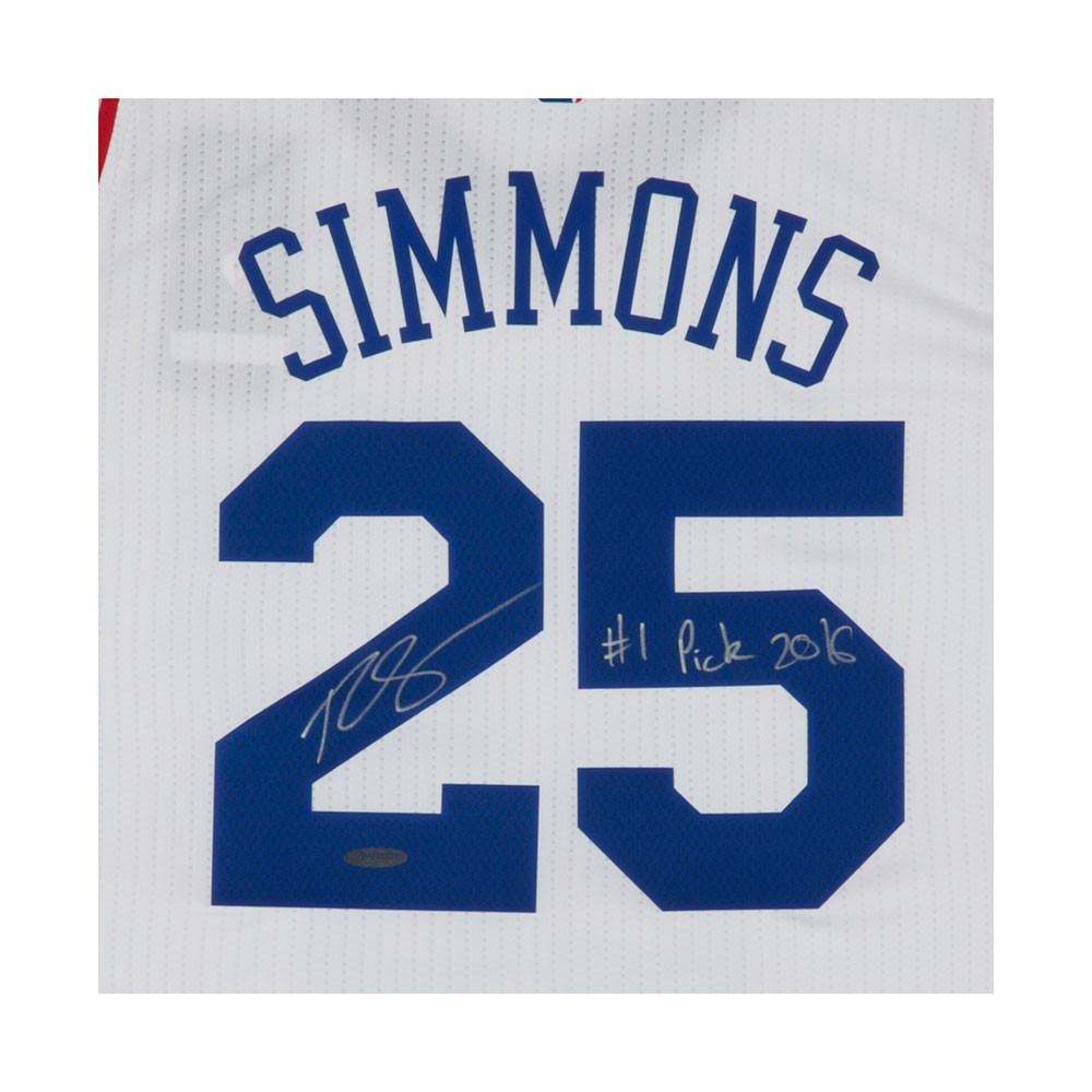 Ben Simmons Signed 76ers Authentic Jersey Inscribed