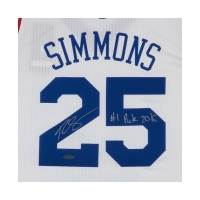 """Ben Simmons Signed Philadelphia 76ers Jersey Inscribed """"#1 Pick 2016"""" (UDA COA) at PristineAuction.com"""