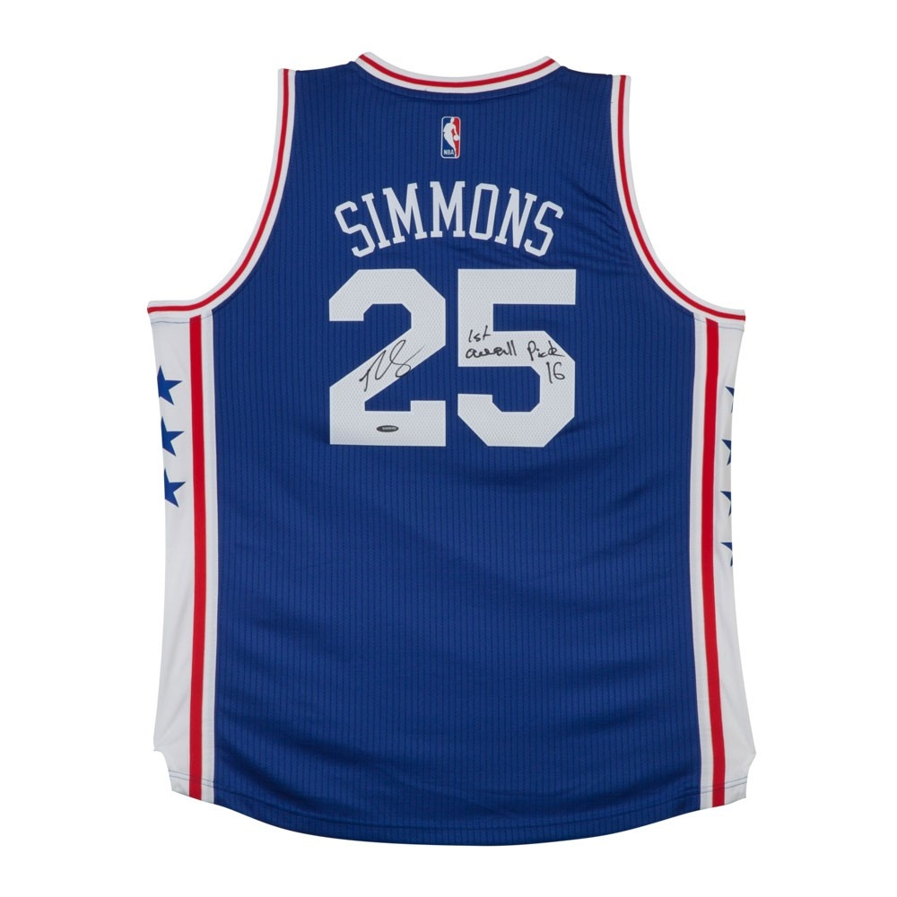 b9b72d6e7 Ben Simmons Signed 76ers Authentic Jersey Inscribed
