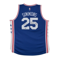 "Ben Simmons Signed Philadelphia 76ers Authentic Jersey Inscribed ""#1 Overall Pick 16"" (UDA COA) at PristineAuction.com"