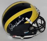 Jim Harbaugh Signed Michigan Wolverines Full-Size Helmet (JSA COA)