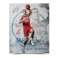 "Ben Simmons Signed Philadelphia 76ers ""All Systems Go"" 16x20 Photo (UDA COA) at PristineAuction.com"