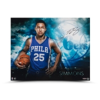 "Ben Simmons Signed Philadelphia 76ers ""Ready"" 16x20 Photo (UDA COA) at PristineAuction.com"