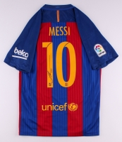 "Lionel ""Leo"" Messi Signed Barcelona Nike Authentic Jersey (Messi COA)"