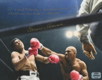 Earnie Shavers Signed 8x10 Photo vs. Muhammad Ali with Extensive Inscription (Shavers Hologram)