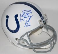 "Peyton Manning Signed Colts Full-Size Helmet Inscribed ""SB XLI MVP"" (Steiner COA, Radtke COA & Fanatics Hologram)"