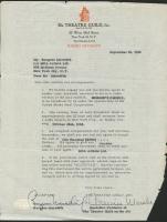 """Burgess Meredith Signed 1952 Theatre Guild 8.5"""" x 11"""" Original Contract (JSA COA)"""