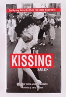 """George Mendonsa Signed """"The Kissing Sailor"""" LE Hardcover Book Inscribed """"The Kissing Sailor"""" (PSA COA)"""