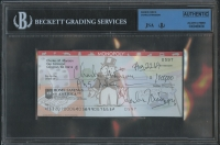 Charles Manson Twice-Signed Personal Bank Check (JSA Encapsulated)