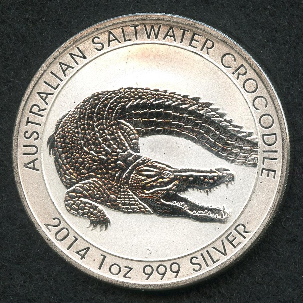 1 Oz Silver Crocodile