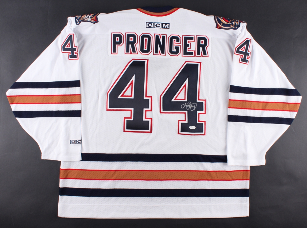 Chris Pronger Signed Oilers Jersey (JSA COA) at PristineAuction.com 0d6452c0b