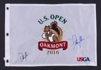 Dustin Johnson Signed 2016 U.S. Open Tournament Golf Pin Flag (JSA Hologram)