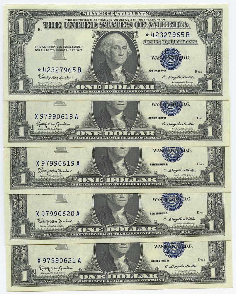 Silver certificate value 1957 with star best design sertificate 2017 1 silver certificate blue seal bills values and s xflitez Gallery