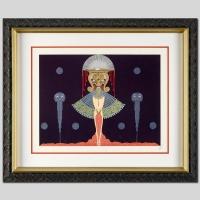 """Erte Signed """"Salome"""" 30x36 Custom Framed Serigraph AP #30/60"""