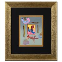 "Peter Max ""Love"" Signed 8.5"" x 11"" Original Acrylic Mixed Media Painting 1/1 (Custom Framed to 20"" x 23"") (Max LOA)"