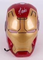 """Stan Lee Signed Full Size Marvel """"Iron Man"""" Mask (Lee Hologram)"""