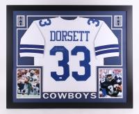 Tony Dorsett Signed Cowboys 35x43 Custom Framed Jersey (JSA COA)