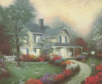"Thomas Kinkade ""Home is Where the Heart Is"" 8"" x 9.5"" Lithograph"