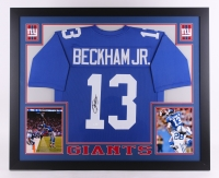 "Odell Beckham Jr. Signed Giants 35"" x 43"" Custom Framed Jersey (JSA COA) at PristineAuction.com"
