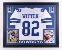 Jason Witten Signed Cowboys 35x43 Custom Framed Jersey (JSA COA & Witten Hologram)