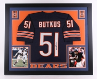 Dick Butkus Signed Bears 35x43 Custom Framed Jersey (JSA COA)