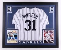 Dave Winfield Signed Yankees 35x43 Custom Framed Jersey (JSA COA)
