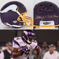 "Randy Moss Signed Vikings Custom Matte Purple Full-Size Helmet Inscribed ""Straight Cash Homie"" (JSA COA)"