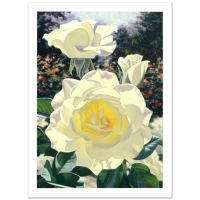 "Brian Davis Signed ""Rose Garden At The Huntington"" Limited Edition 23x31 Giclee at PristineAuction.com"