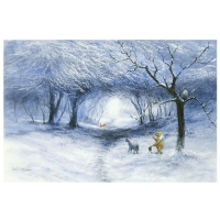 """Peter Ellenshaw Signed """"Winter Walk"""" Limited Edition 18x27 Giclee on Canvas from Disney Fine Art"""