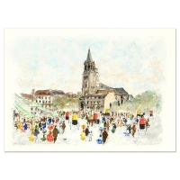 """Urbain Huchet Signed """"St Germain du Pre"""" Limited Edition 21x29 Lithograph at PristineAuction.com"""