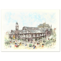 """Urbain Huchet Signed """"Les Halles"""" Limited Edition 21x29 Lithograph (PA LOA) at PristineAuction.com"""