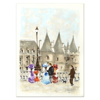 """Urbain Huchet Signed """"Towers"""" Limited Edition 21x29 Lithograph (PA LOA) at PristineAuction.com"""