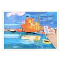 """Georges Lambert Signed """"Brest"""" Limited Edition 21x29 Lithograph at PristineAuction.com"""