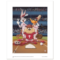 """At the Plate (Phillies)"" Limited Edition 16x20 Giclee from Warner Bros. at PristineAuction.com"