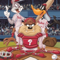 """""""At the Plate (Phillies)"""" Limited Edition 16x20 Giclee from Warner Bros. at PristineAuction.com"""