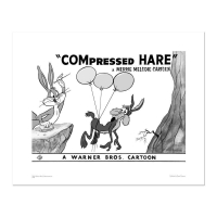 """""""Compressed Hare"""" Limited Edition 16x20 Giclee from Warner Bros."""
