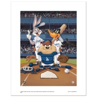 """At the Plate (Dodgers)"" Limited Edition 16x20 Giclee from Warner Bros. at PristineAuction.com"