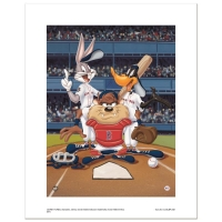 """At the Plate (Red Sox)"" Limited Edition 16x20 Giclee from Warner Bros. at PristineAuction.com"