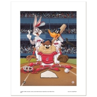 """At the Plate (Indians)"" Limited Edition 16x20 Giclee from Warner Bros."