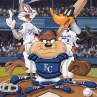 """""""At the Plate (Royals)"""" Limited Edition 16x20 Giclee from Warner Bros. at PristineAuction.com"""