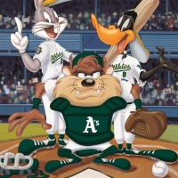 """At the Plate (Athletics)"" Limited Edition 16x20 Giclee from Warner Bros. at PristineAuction.com"