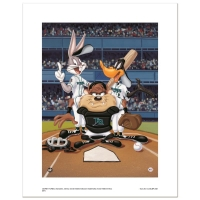 """At the Plate (Devil Rays)"" Limited Edition 16x20 Giclee from Warner Bros. at PristineAuction.com"