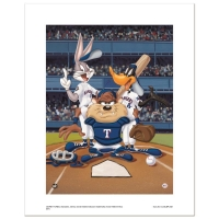 """At the Plate (Rangers)"" Limited Edition 16x20 Giclee from Warner Bros. at PristineAuction.com"